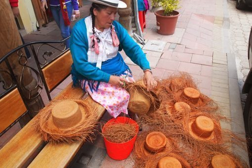 A hatmaker in Ecuador. photo by Max Hartshorne