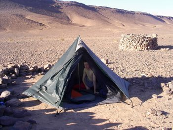 Camping in Morocco's vast Sahara. Chris Watson photo.