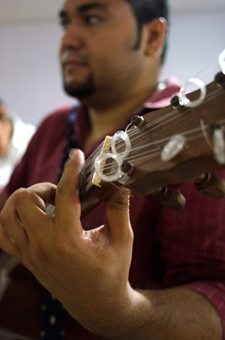 Son jarocho singers at a Veracruz fandango.
