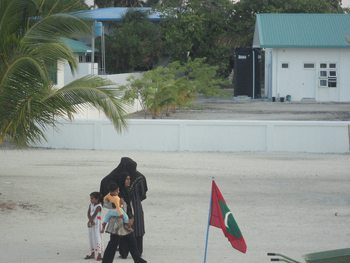 Maldives mom.