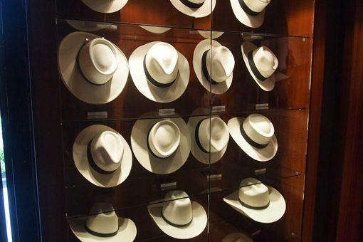 Panama hats at Homer Ortega hat factory in Cuenca.