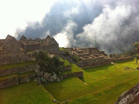 Mystical Sunrise view of Machu Picchu.