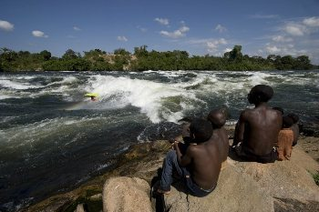 Waves on the mighty Nile river in Uganda. photo: The Pearl Guide Uganda.