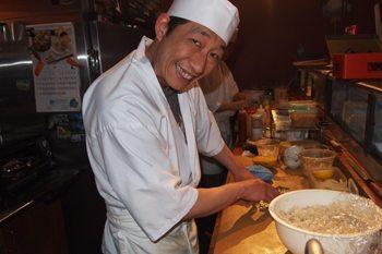 Sushi chef at Kaide Sushi bar, Vancouver.