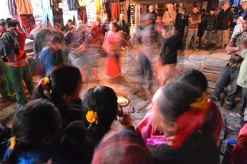 Dhasain festival in Tatopani.