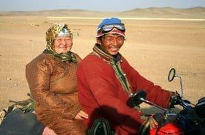 Gobi desert nomads in Mongolia.