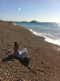 Hove beach, a little less crowded than Brighton.