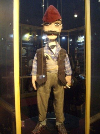 A puppet from the collection in the museum