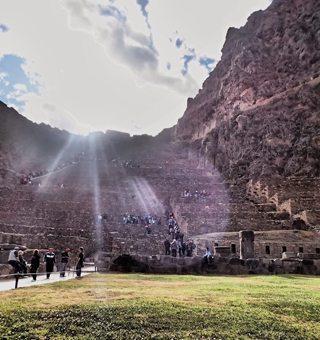 The Ollantataytambo ruins.