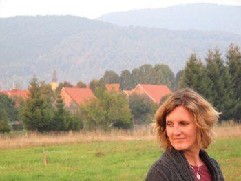 Jennifer Wilson in her village in Croatia. photo by Jim Hoff.
