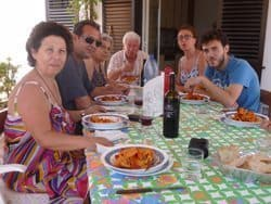 Sunday dinner in Calabria, southern Italy.
