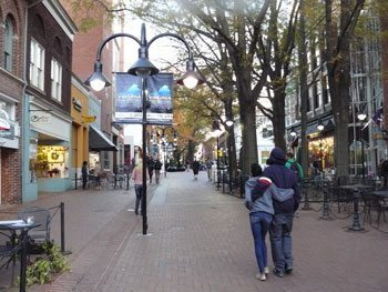 The Historic Downtown Mall in Charlottesville