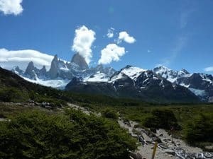 On the trail of our Mirador Fitz Roy Hike.