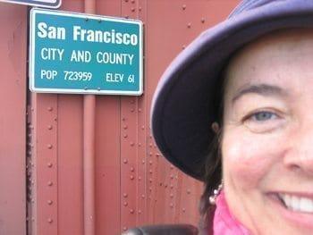 Author Ingrid Hart at the Golden Gate Bridge.