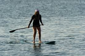 Stand-up paddleboarding in Maui.