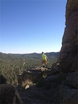 Hike up, then do some yoga in the beautiful New Mexico mountains.