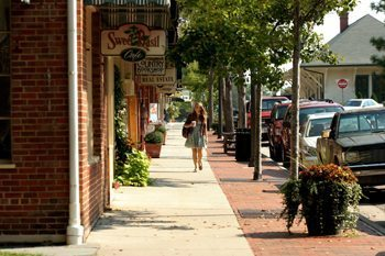 Downtown Southern Pines, SC, across from the depot.