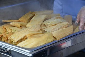 Hot Tamales from a vendor with cold fingers