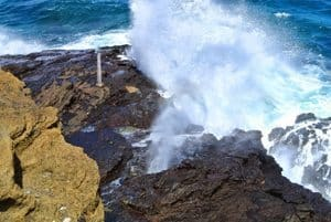 The Halona blowhole on the southern coast of Oahu