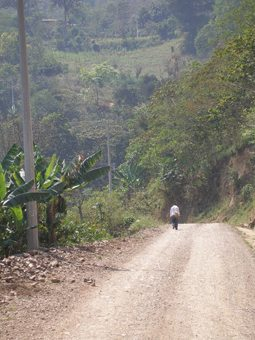 The lonely dirt road to Cinco de Mayo, in Puebla, Mexico. photos by Andrew Wilson.