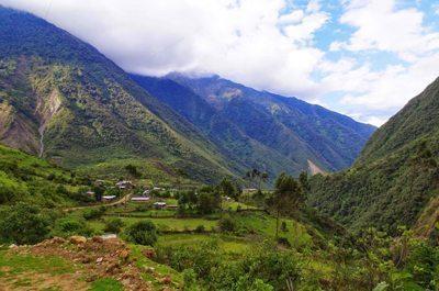 Hiking near Machu Pichu in Peru, South America.