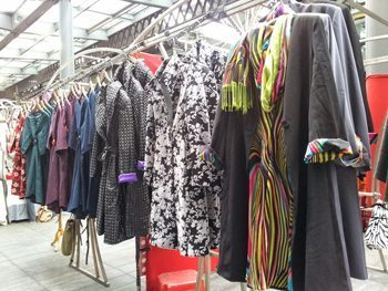 Dress-coats by Lizzie Nolan in East London.