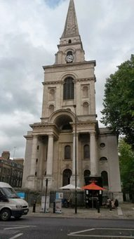Spitalfields church.