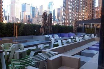 This is the biggest terrace in Manhattan, at Yotel, on 10th Ave NYC.
