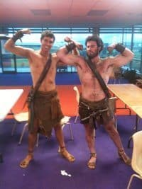 The author in his loincloth.