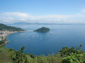 The view from Cerra de la Cruz, Isla Tobago. photos by Jane Stevenson.