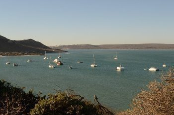 Tranquil Azure bay with yachts and houseboats moored. photos by Lauren Manuel.