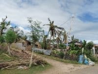 Some of the damage from Typhoon Haiyan