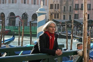 Donna Leon at the Grand Canal in Venice