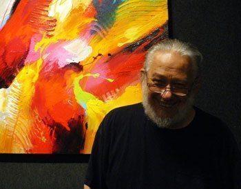 We visited Jonas Gerard in his studio in the River Arts District.