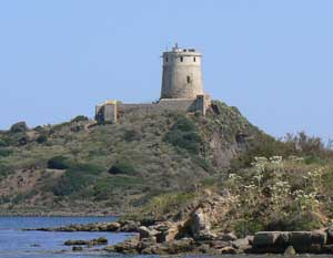 A Phoenician tower at the ancient site of Nora, just outside of Cagliari, Sardinia. photo by Max Hartshorne