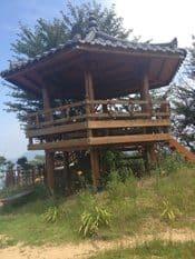 Prayer Pavilion at the top of Hill 303, beside Korean War Memorial in Waegwan