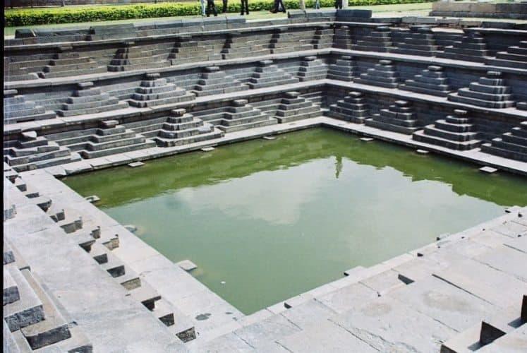Pushkarini pond.