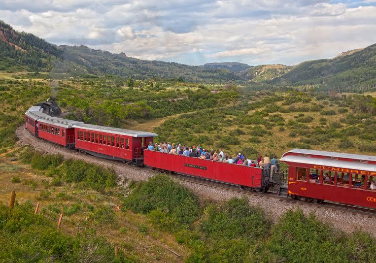Cumbres and Toltec Scenic railroad in New Mexico.