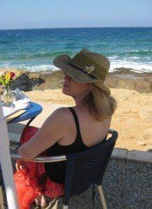 Stephanie Anderson Ladd in Mochlos, Crete.