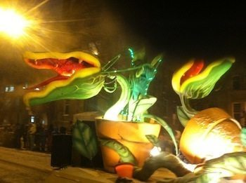 Carnival floats in the night parade photo credit Kathleen Broadhurst