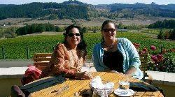 Tasting the wine in WIllamette Valley Oregon.