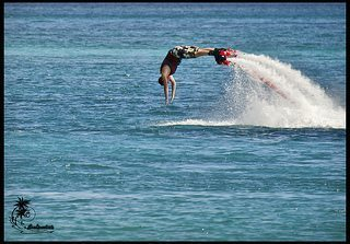 Flyboarding on St. Thomas
