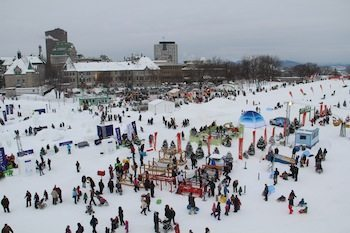 Qubece Carnival from above. Photo by Kathleen Broadhurst