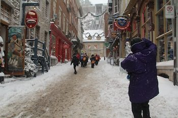 Quebec's enchanting Old City. Photo credit Kathleen Broadhurst