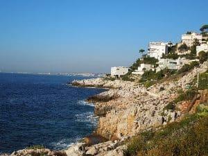 Coastline on Sentier Du Littoral in Nice.