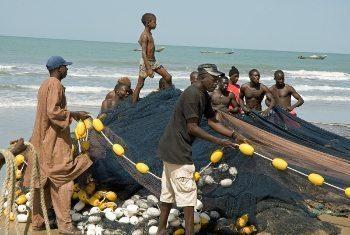 Fisherman in Senegal. Carin Tegner photo.