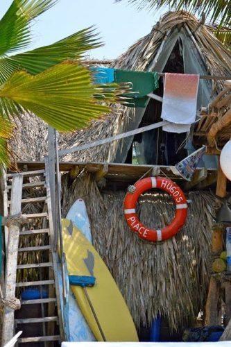 Hugos Place in Isla Baru, near Cartagena Colombia. Beachfront paradise, cheap!