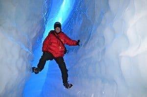 Ice Caving in Queen Maud Land Antarctica