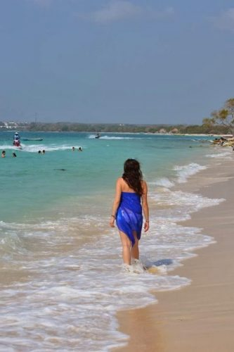 Playa Blanca on Isla Baru, Colombia.