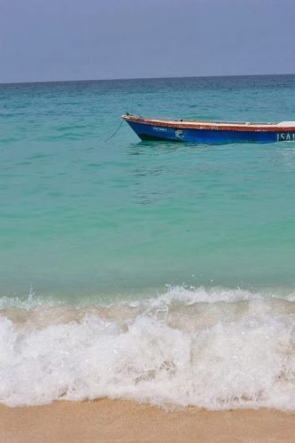 White sand and blue waters in Isla Baru, near Cartagena Colombia. photos by Nikki Vargas.